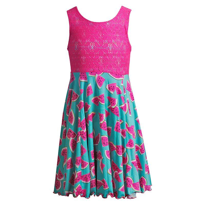 Girls 7-16 Emily West Watermelon Flip & Twirl Reversible Dress