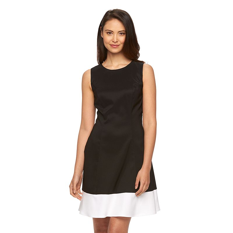 Women's AB Studio Colorblock A-Line Dress