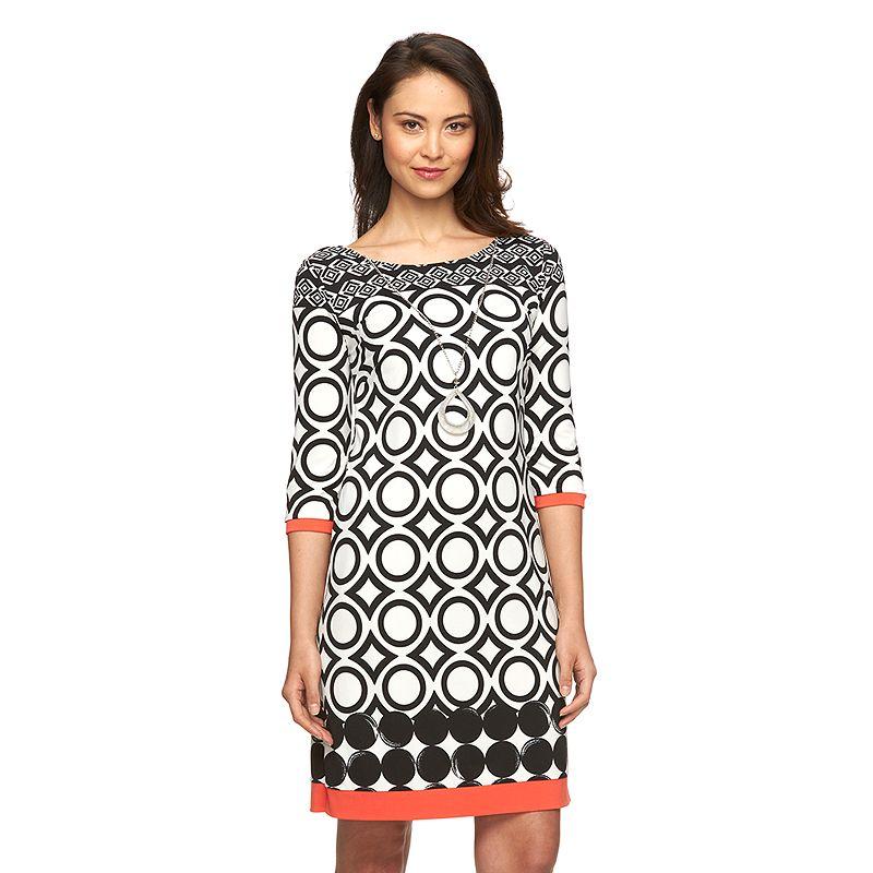 Women's AB Studio Geometric Shift Dress