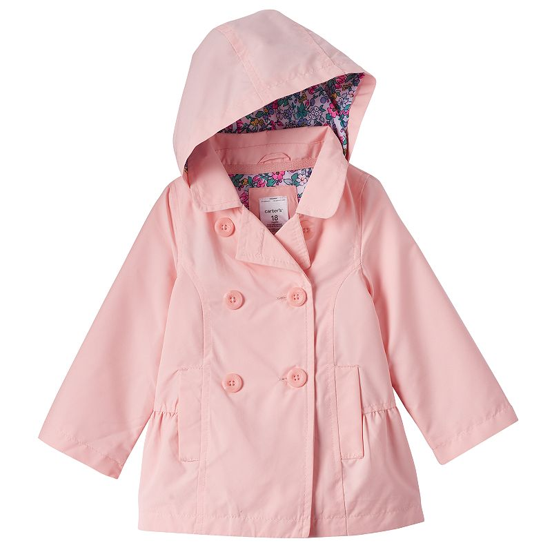Baby Girl Carter's Hooded Trench Jacket