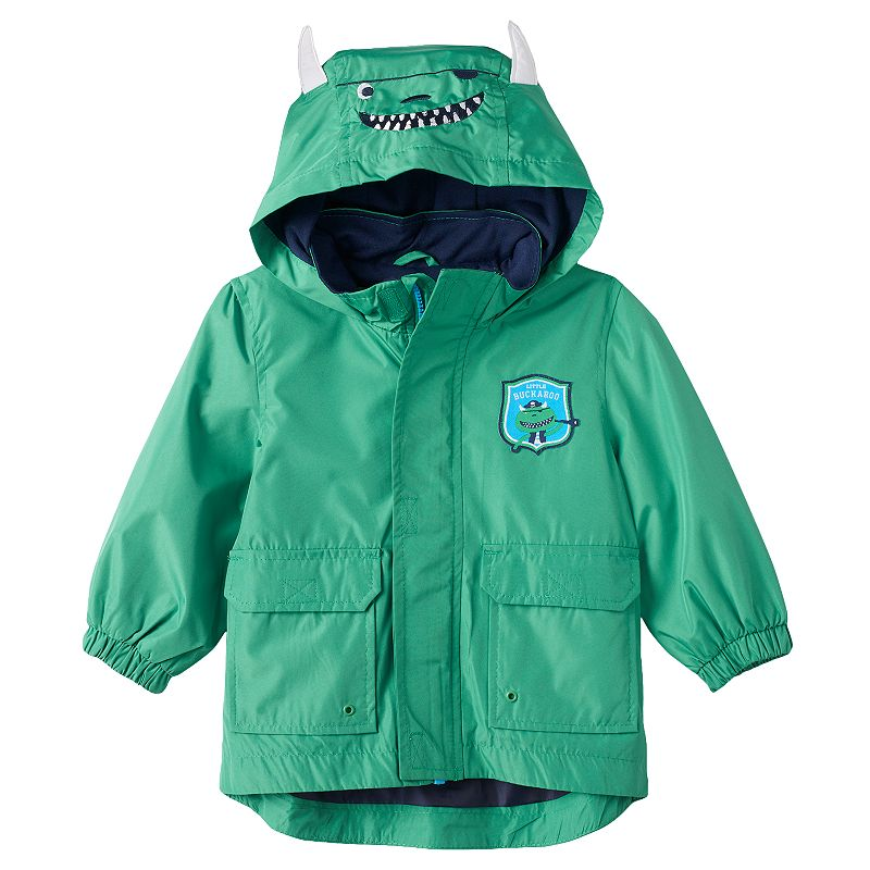 Boys 4-7 Carter's Monster Pirate Hooded Rain Jacket