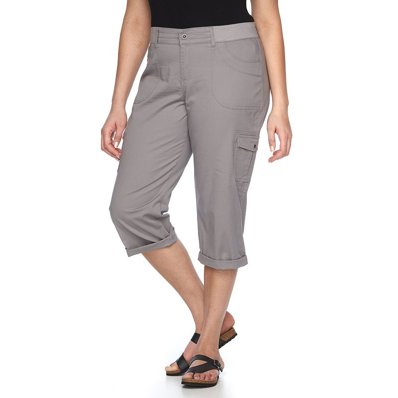 Plus Size Lee Relaxed Fit Twill Capris