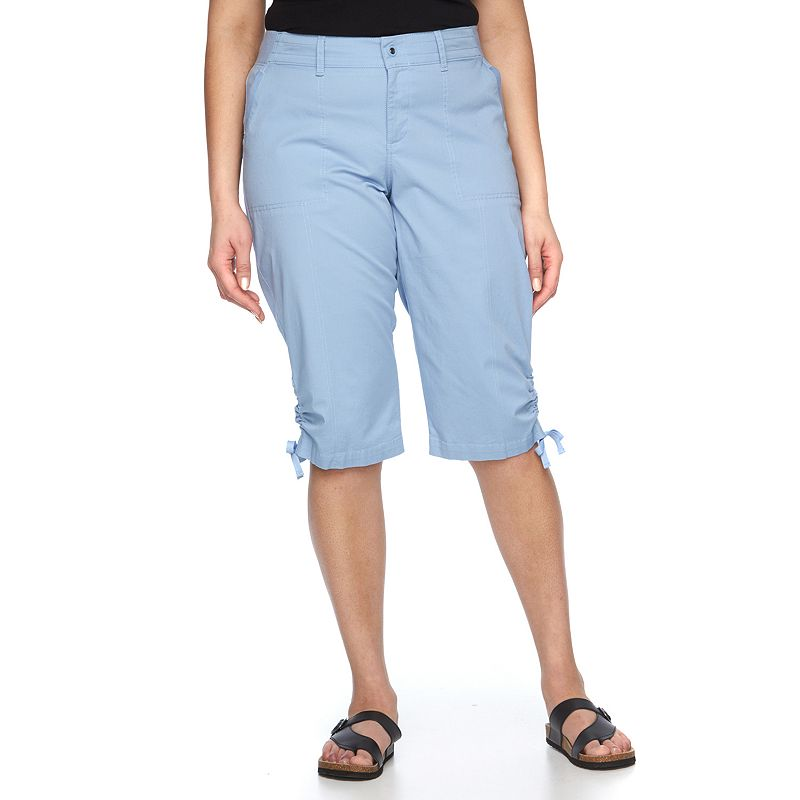 Plus Size Lee Harper Relaxed Fit Skimmer Capris