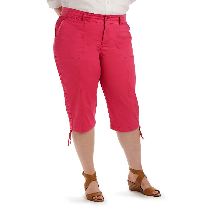 Plus Size Lee Harper Relaxed Fit Skimmer Capris, Pink