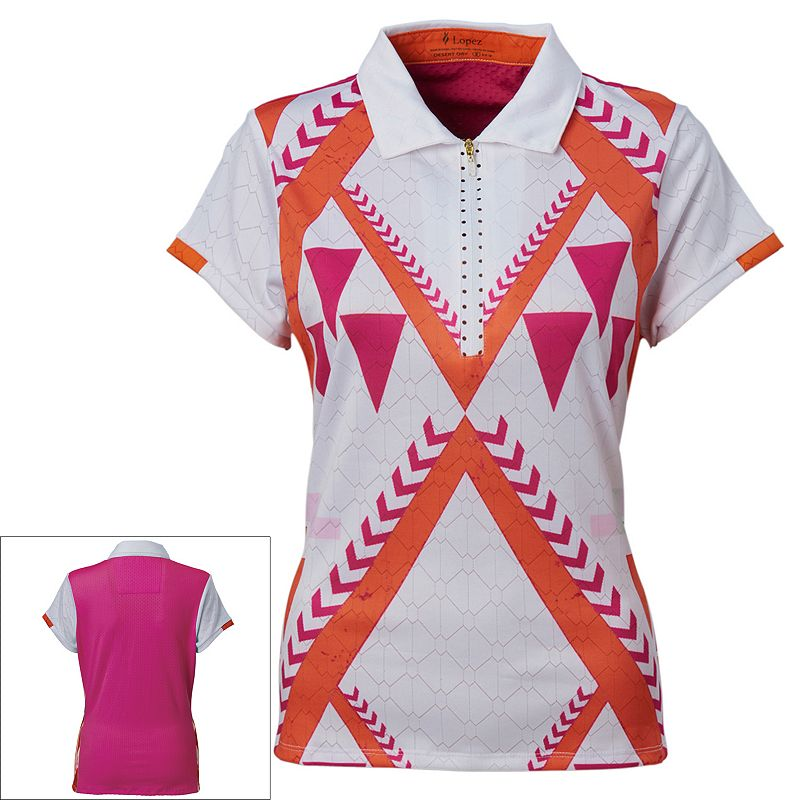 Plus Size Nancy Lopez Faith Quarter-Zip Golf Polo