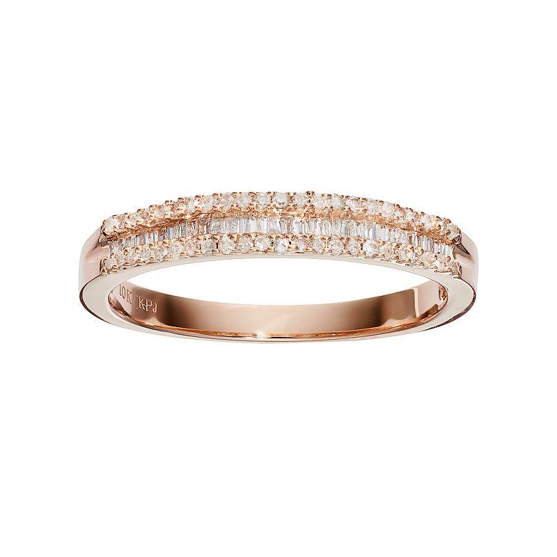 10k Rose Gold 1/4 Carat T.W. Diamond Ring