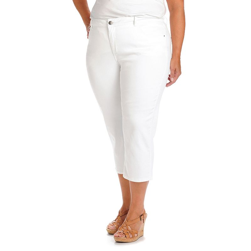 Plus Size Lee Frenchie Skinny Jean Capris