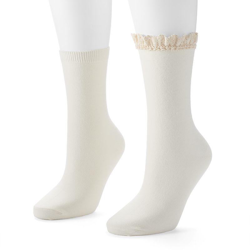 Women's SONOMA Goods for Life™ 2-pk. Crew Socks