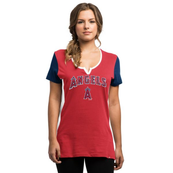 Women's Majestic Los Angeles Angels of Anaheim Time To Shine Tee