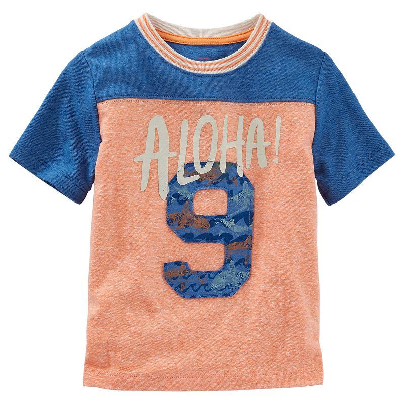 Boys 4-7 OshKosh B'gosh® Colorblock Football-Seam Embroidered Tee
