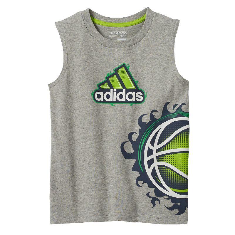 Boys 4-7x adidas Basketball Muscle Tank