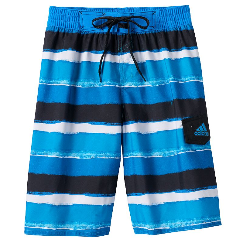 Boys 8-20 adidas Water Striped Volley Board Shorts
