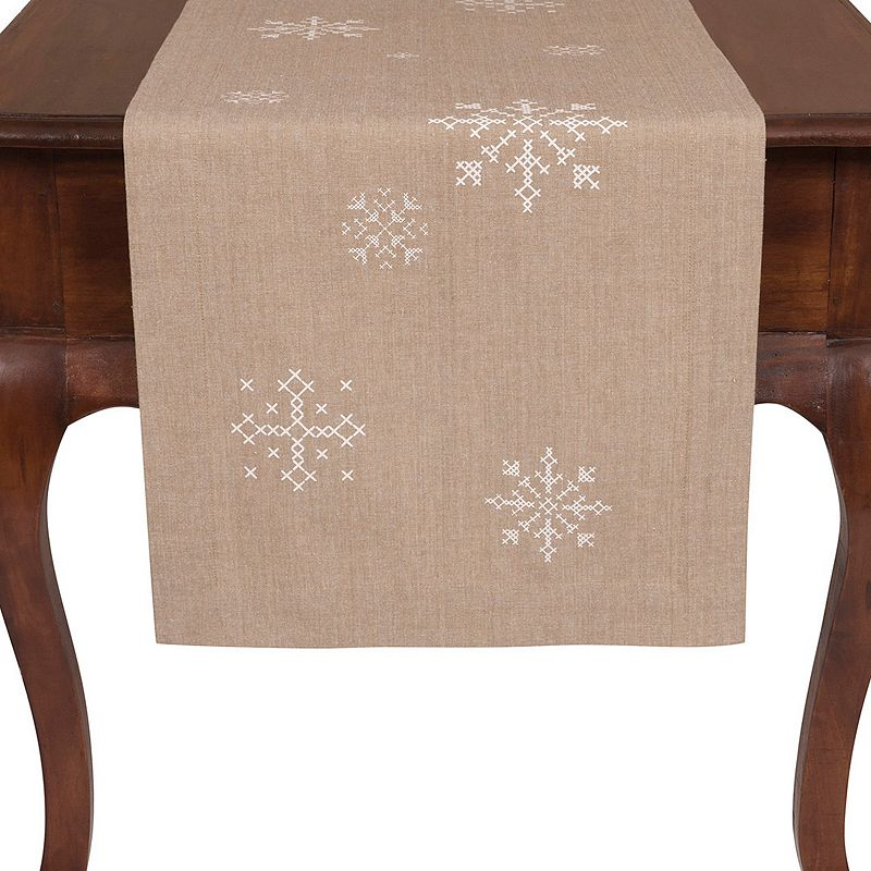 Snowflake Holiday Table Runner - 16