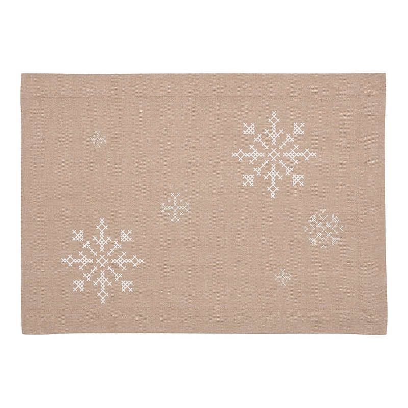 Snowflake Holiday 4-pc. Placemat Set