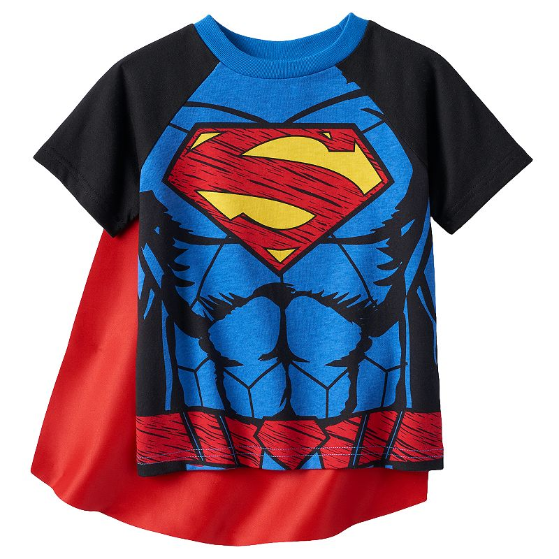 Toddler Boy DC Comics Superman Caped Tee