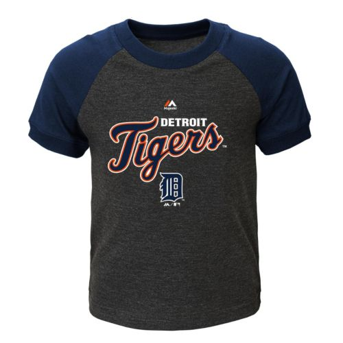 Toddler Majestic Detroit Tigers Game Time Ringer Tee