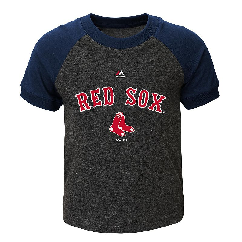 Toddler Majestic Boston Red Sox Game Time Ringer Tee