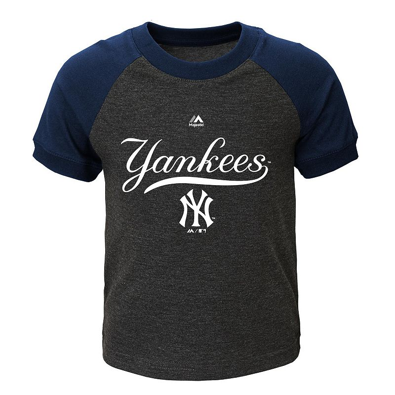 Toddler Majestic New York Yankees Game Time Ringer Tee