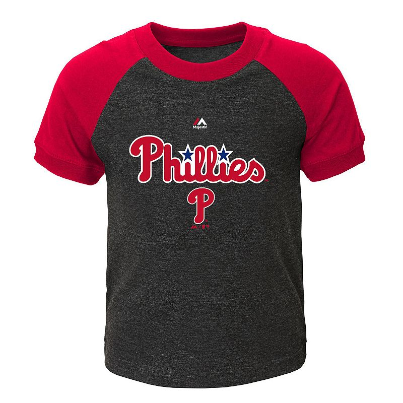 Toddler Majestic Philadelphia Phillies Game Time Ringer Tee