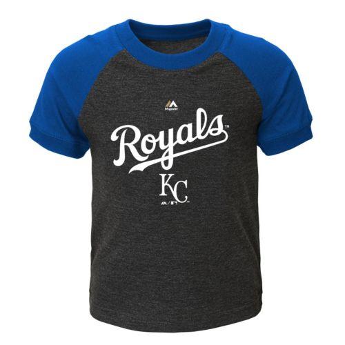 Toddler Majestic Kansas City Royals Game Time Ringer Tee
