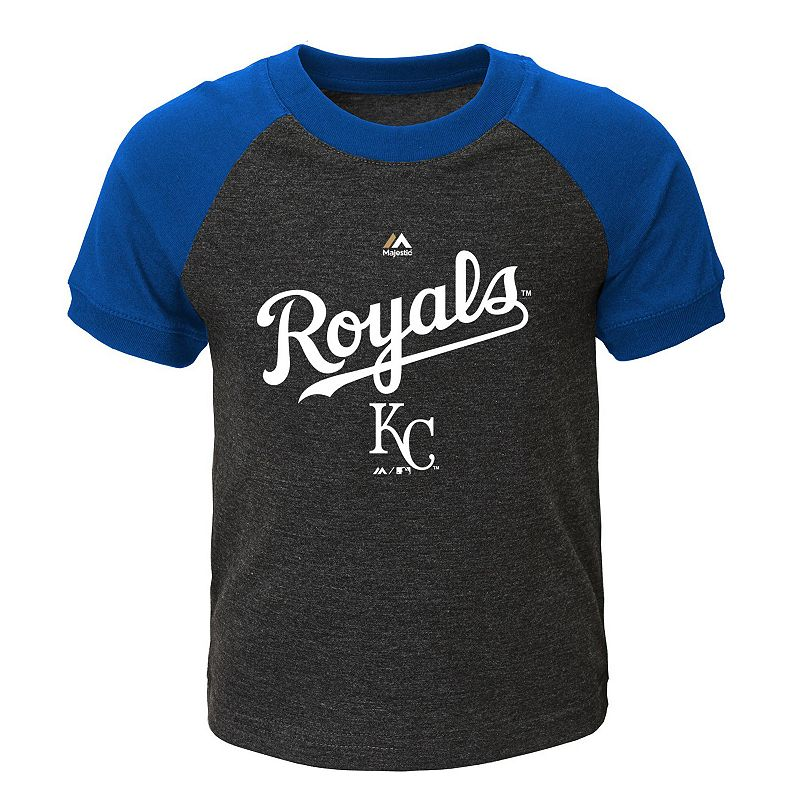 Toddler Majestic Kansas City Royals Game Time Ringer Tee