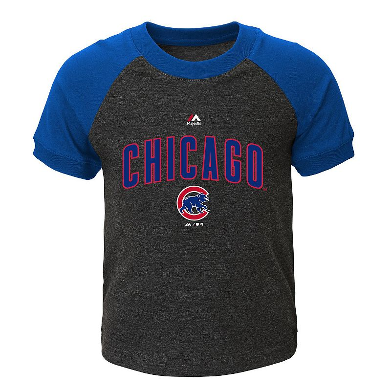 Toddler Majestic Chicago Cubs Game Time Ringer Tee