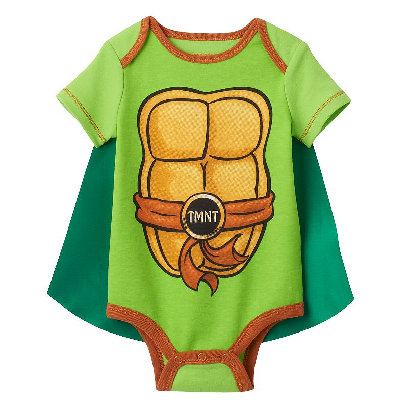 Baby Boy Teenage Mutant Ninja Turtles Bodysuit with Cape