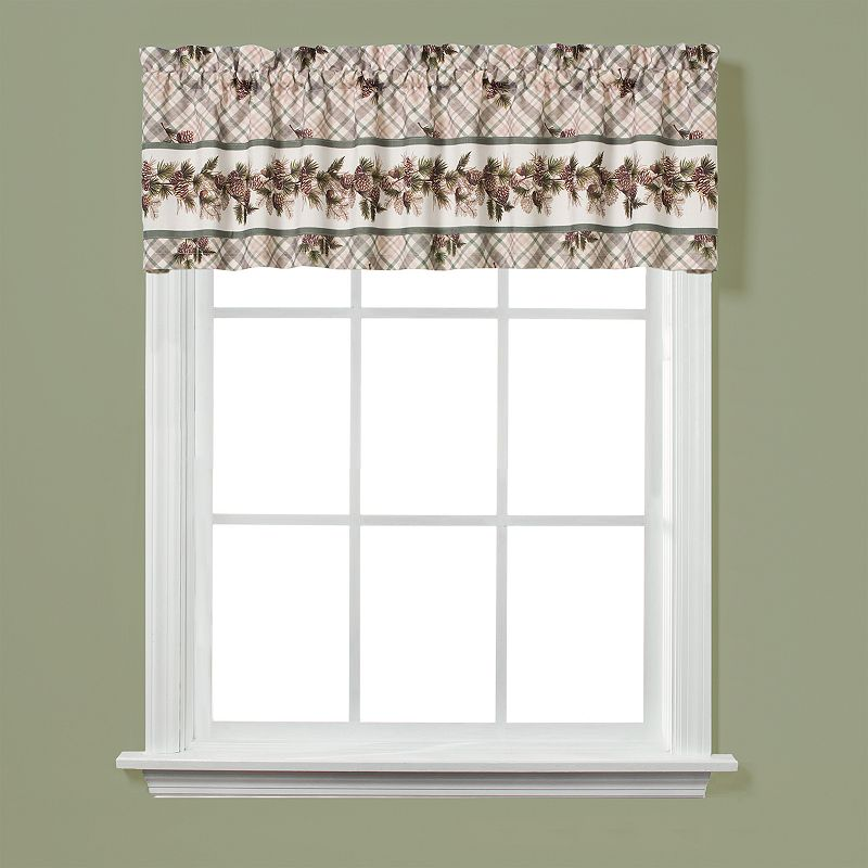 Saturday Knight, Ltd. Pinecone Plaid Valance - 58'' x 13''