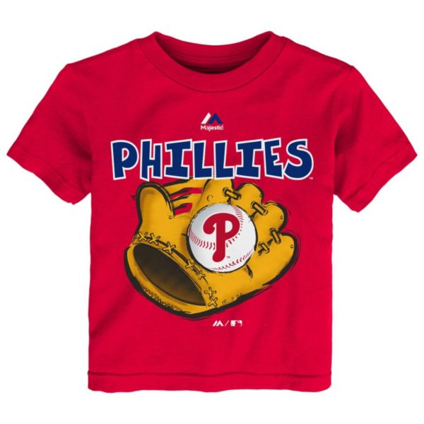 Toddler Majestic Philadelphia Phillies Baseball Mitt Tee