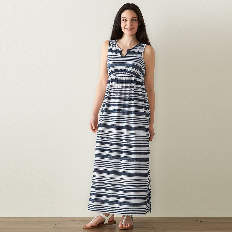 Petite SONOMA Goods for Life™ Print Empire Maxi Dress