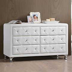 Baxton Studio Luminescence Upholstered Dresser by
