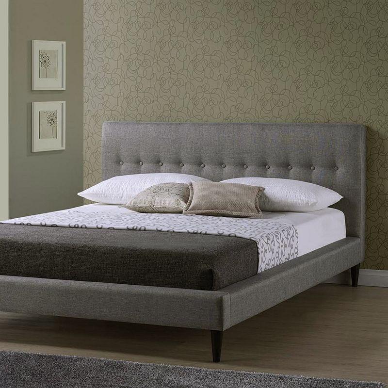 Baxton Studios Callasandra Contemporary Bed - Queen