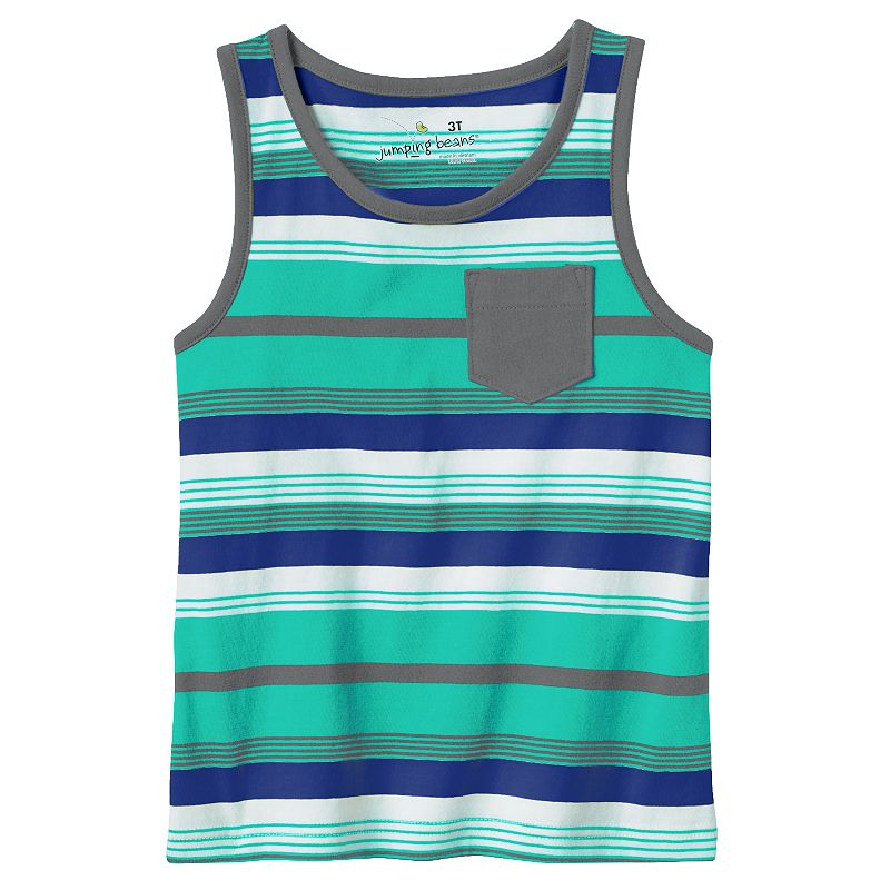 Toddler Boy Jumping Beans® Striped Pocket Muscle Tank