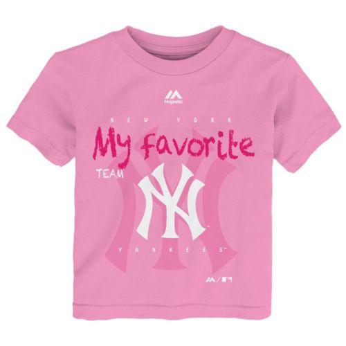 Toddler Majestic New York Yankees Pink My Favorite Tee
