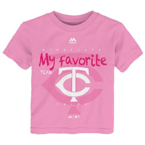 Toddler Majestic Minnesota Twins Pink My Favorite Tee