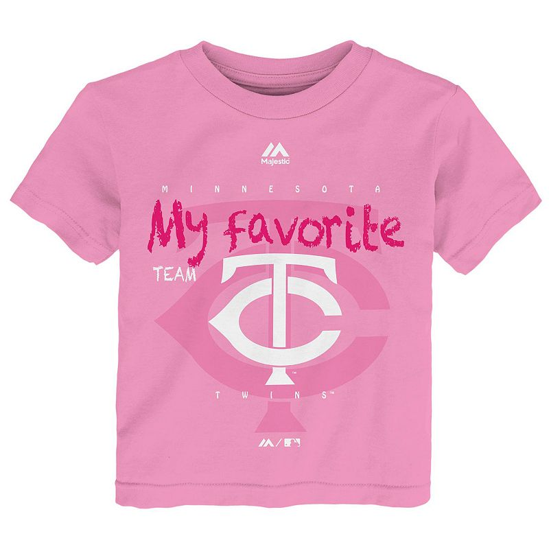 Toddler Majestic Minnesota Twins Pink My Favorite Tee