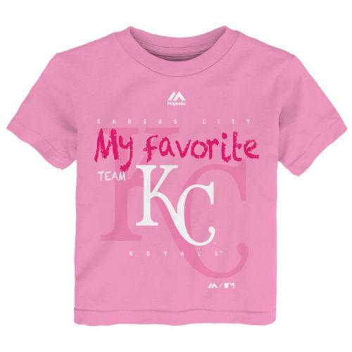 Toddler Majestic Kansas City Royals Pink My Favorite Tee