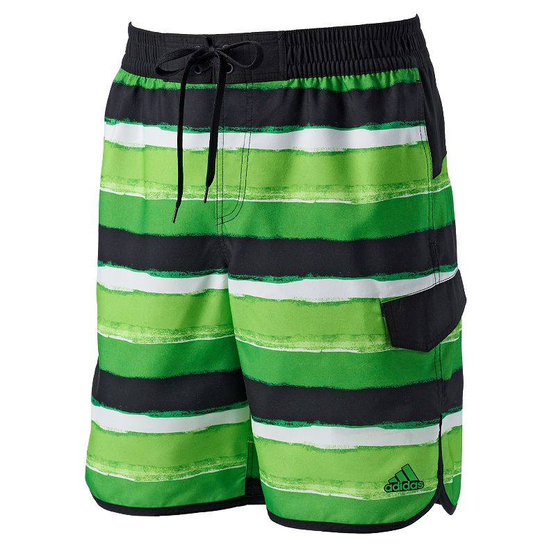 Men's adidas Water-Stripe Volley Swim Trunks
