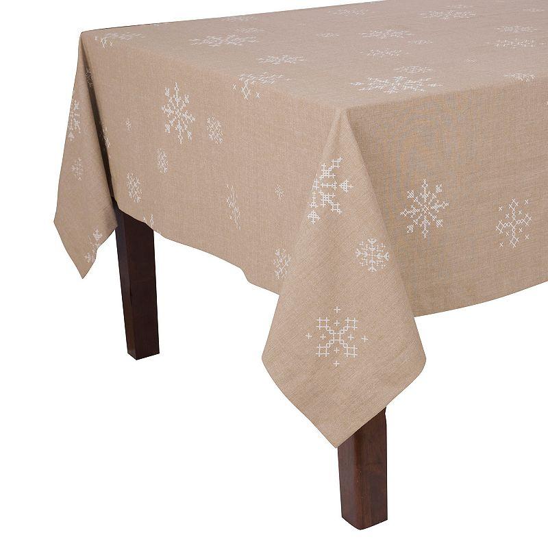 Snowflake Holiday Tablecloth