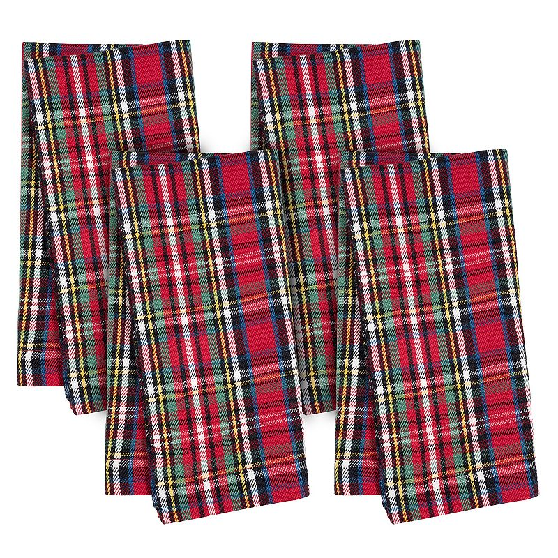 Holiday Plaid 4-pc. Napkin Set