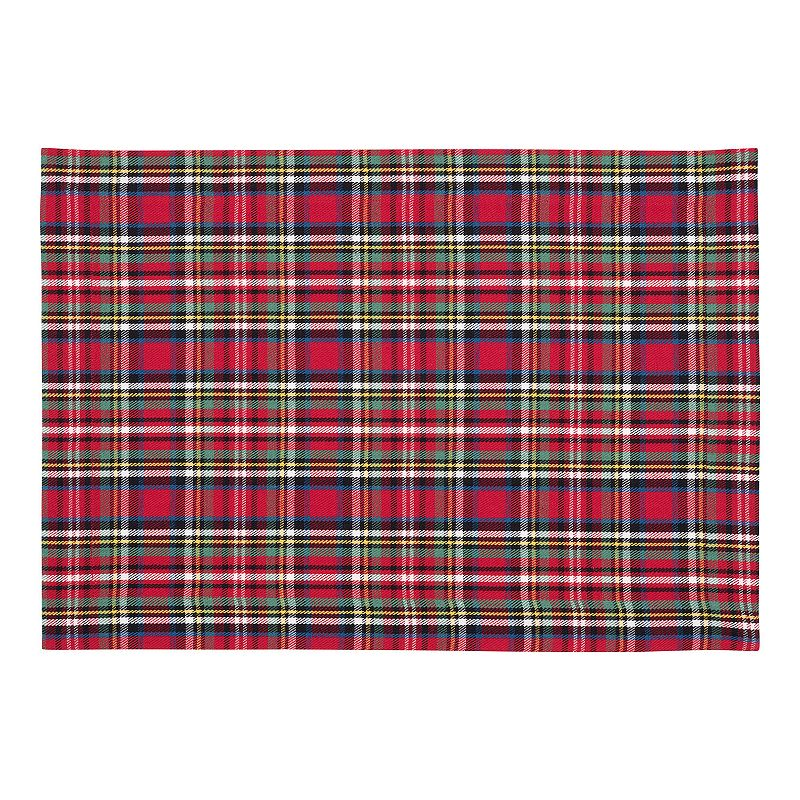 Holiday Plaid 4-pc. Placemat Set
