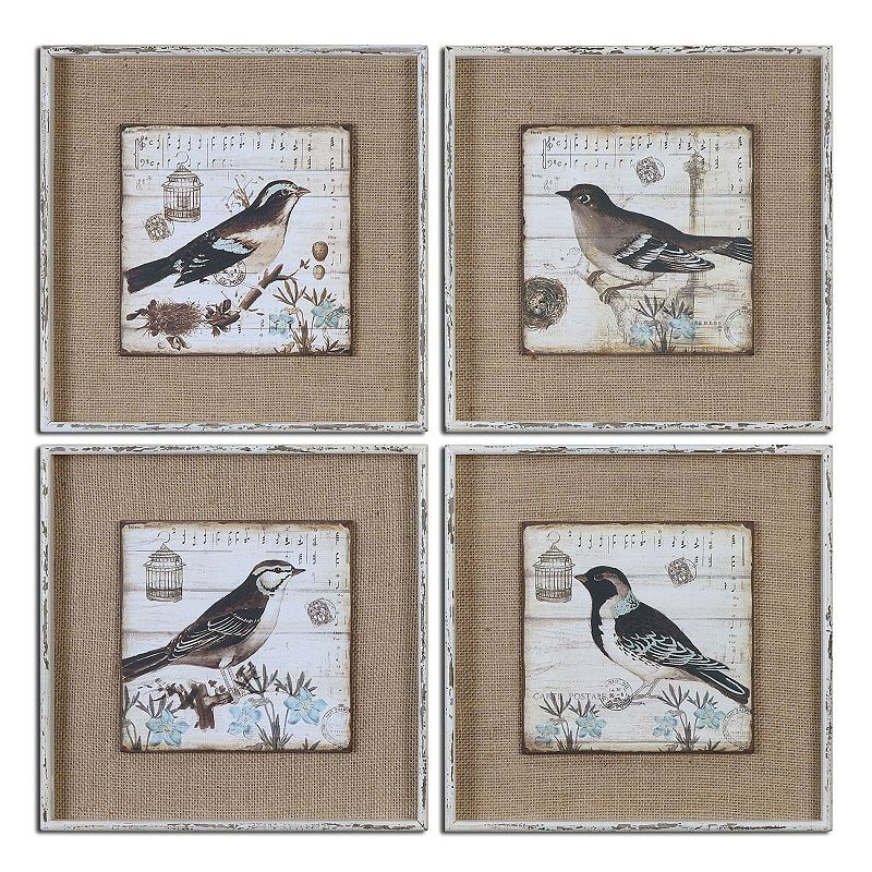 Birds Wall Art 4-piece Set