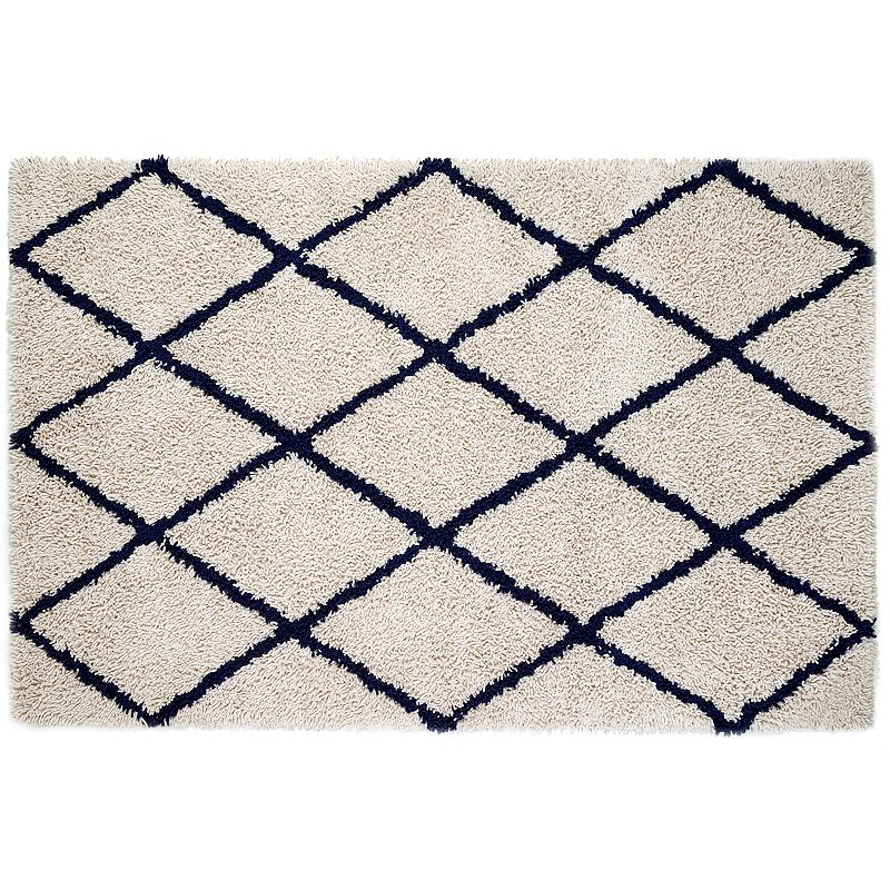 Anji Mountain Silky Shag Lattice Rug