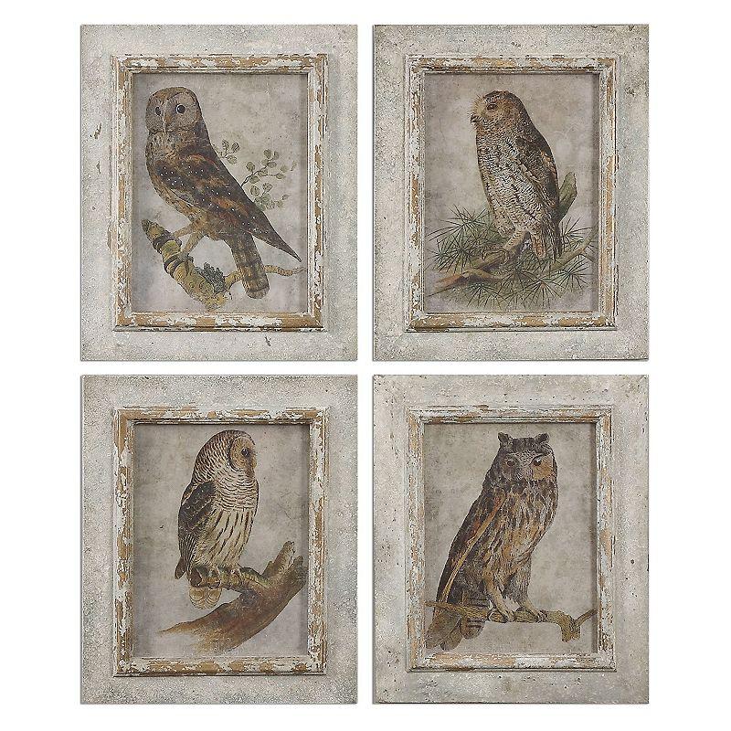 Owls Wall Art 4-piece Set