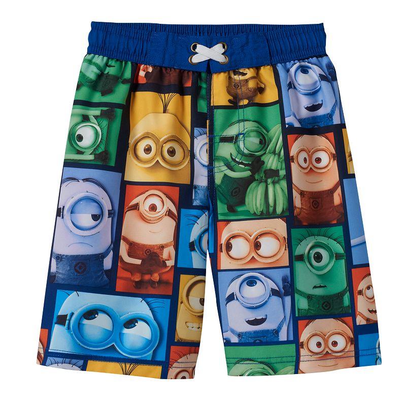 Boys 4-7 Despicable Me Minion Colorblocked Swim Trunks