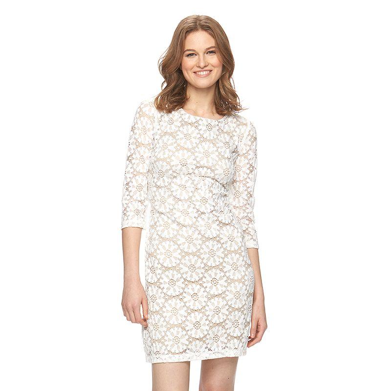 Ronni Nicole Floral Lace Shift Dress