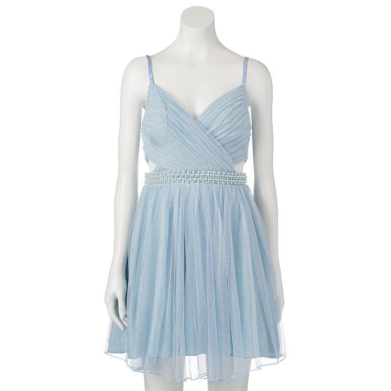 Juniors' Speechless Glitter Tulle Party Dress
