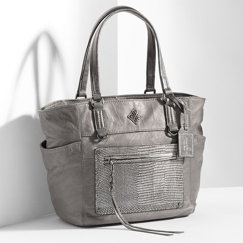 Simply Vera Vera Wang Dubai Leather Lizard Tote