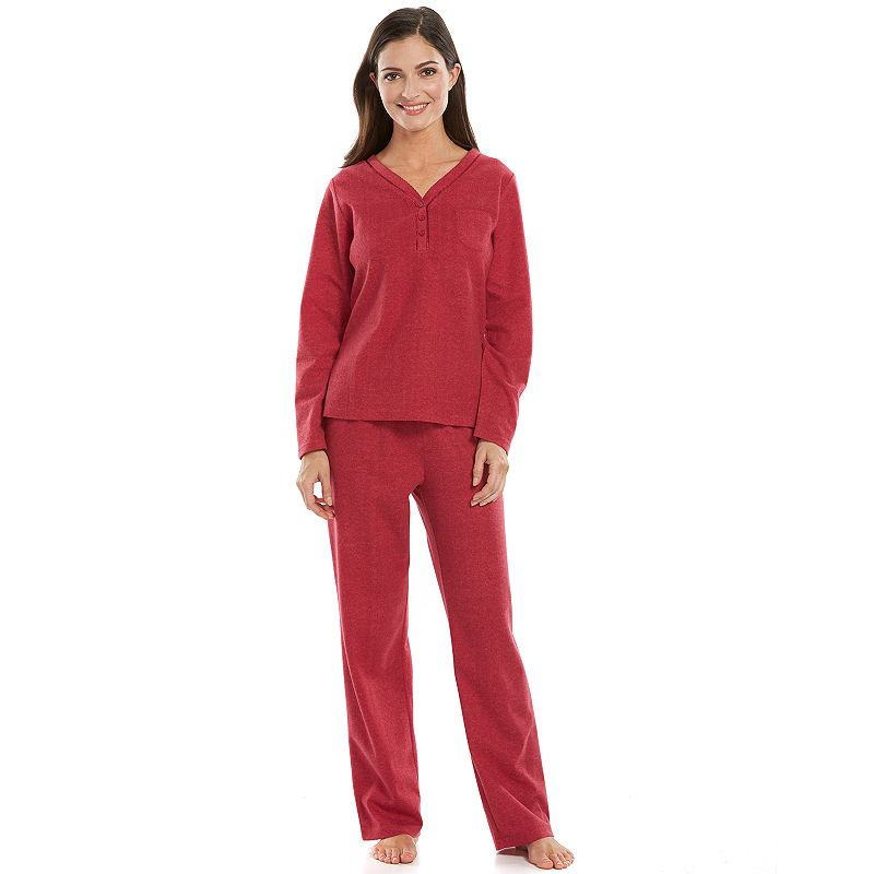 Women's Hanes Pajamas: Brushed Knit Pajama Set