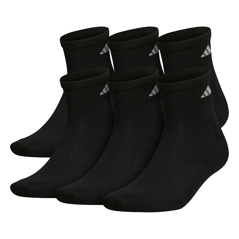 Big & Tall adidas 6-pack ClimaLite Performance Quarter Socks